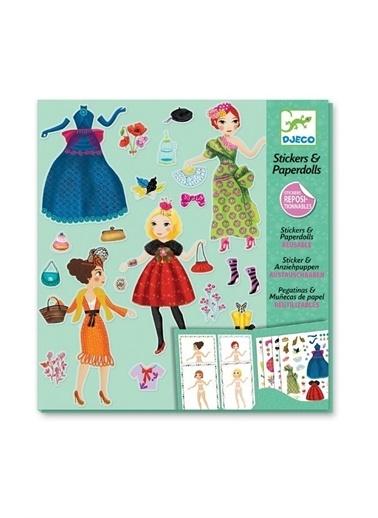 Djeco Djeco Kağıt Giydirme Seti / Massive Fashion Pembe